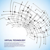 Virtual technology objects with space for your business message — Stock Photo