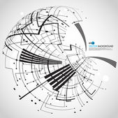 Abstract technology globe — Stockvector