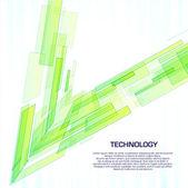 Objets de technologie virtuelle verte avec espace pour message business — Vecteur