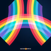 Bright rainbow illustration with space for your design — Stock Vector