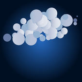 Cloud and rain illustration with space for your design — Vector de stock