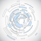 Cerchio di tecnologia virtuale con spazio per il tuo messaggio aziendale — Vettoriale Stock