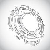 Virtuell teknik cirkel med plats för ditt företag-meddelande — Stockvektor