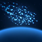 Blue space lights illustration — Vector de stock