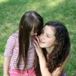 Portrait of beautiful young girls in park — Stock Photo #12085567