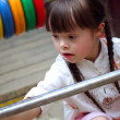 Portrait of beautiful young girl on playground. — Stock Photo #12088298