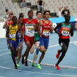 Athletes in the 800 meters on the 2012 IAAF World Junior Athletics Championships on July 14, 2012 in Barcelona, Spain — Stock Photo #12400415