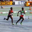 Athletes in the 5000 meters on the 2012 IAAF World Junior Athletics Championships on July 14, 2012 in Barcelona, Spain — Stock Photo