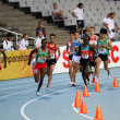 Athletes in the 5000 meters on the 2012 IAAF World Junior Athletics Championships on July 14, 2012 in Barcelona, Spain — Stock Photo #12430251