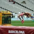 High jumper Melina Brenner competes in the high jump on the 2012 IAAF World Junior Athletics Championships on July 15, 2012 in Barcelona, Spain — Stock Photo
