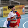 Amela Terzic from Serbia - silver medalist of 1500 Metres on IAAF World Junior Athletics Championships on July 15, 2012 in Barcelona, Spain — Stock Photo #12698089