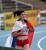 Amela Terzic from Serbia - silver medalist of 1500 Metres on IAAF World Junior Athletics Championships on July 15, 2012 in Barcelona, Spain — Stock Photo