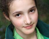 Portrait de la belle jeune fille — Photo