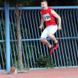 Maksimchuk Ivan is configured to participate in the 200 meters race — Stock Photo