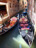 Gondolas in Venice, Italy — Stock Photo