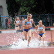 Girls compete in 3.000 Meter Steeplechase on UkrainiTrack & Field Championships on June 01, 2012 in Yalta, Ukraine — Stock Photo #14483969