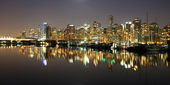 Vancouver downtown night, Canada BC — Stock Photo