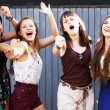 Students girls having fun — Stock Photo #22155033