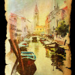 Royalty-Free Stock Photo: Venice on vintage texture old paper .