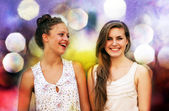 Beautiful student girls — Stock Photo