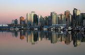 Vancouver downtown evening, Canada BC — Stock Photo