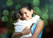 Happy family moments - Mother and child have a fun. — Stock Photo