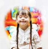 Portrait of beautiful happy girl — Stock Photo