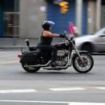 Biker on Barcelona Harley Days 2013 — Stock Photo