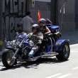Stock Photo: Bikers on Barcelona Harley Days 2013