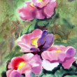 Watercolor painting of beautiful flowers. — Stockfoto #29303211