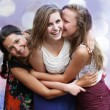 Students girls having fun — Foto de Stock