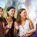 Teenage girls having fun — Stock Photo