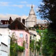 Paris Montmartre landscape — Stock Photo