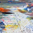 Art painting with palette knife — Stock Photo