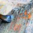 Stock Photo: Closeup of brush and palette