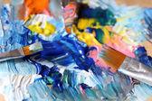 Kunst palet — Stockfoto