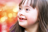 Portrait of beautiful young happy girl — Stock Photo