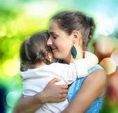 Happy family moments — Stock Photo