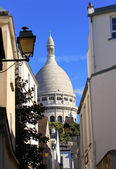 Montmartre street in the Paris, France — Stock Photo