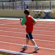 Boy on track and field competition — Stock Photo #39503837