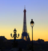 View on Eiffel Tower in the evening, Paris, France — Stock Photo