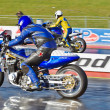 Blue drag bike — Foto Stock