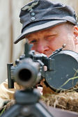 German machine gunner — Stock Photo