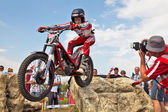 Trials rider — Stock Photo