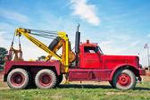 Rescue truck in bright red — Stock Photo