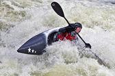 White water kayaker — Stock Photo