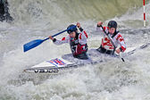 C2 kayakers — Stock Photo