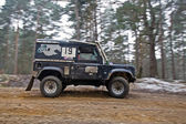 Speeding Land Rover — Stock Photo