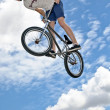 BMX jumper — Stock Photo