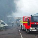 průmyslové oheň — Stock fotografie #35174111